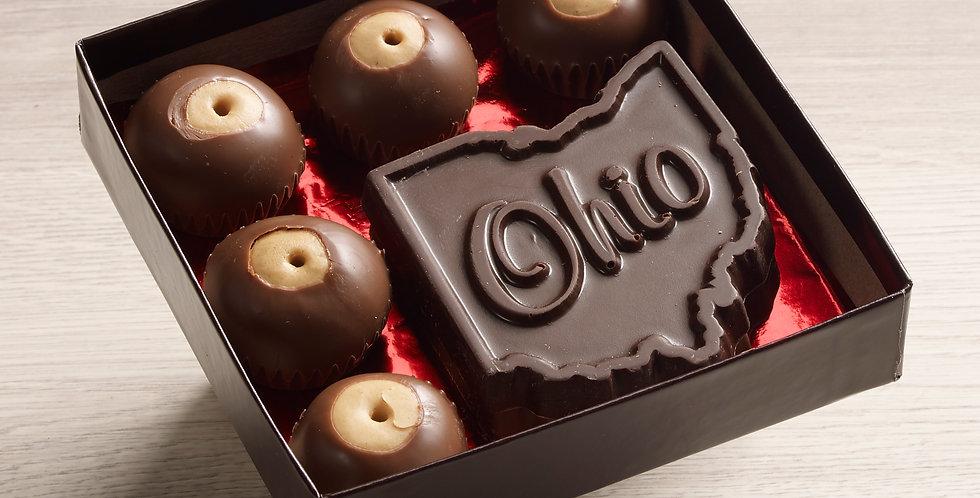 Ohio buckeye assortment - dark chocolate & milk chocolate