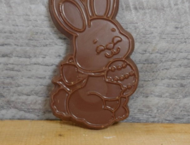 Milk chocolate cookie-cutter Easter bunny