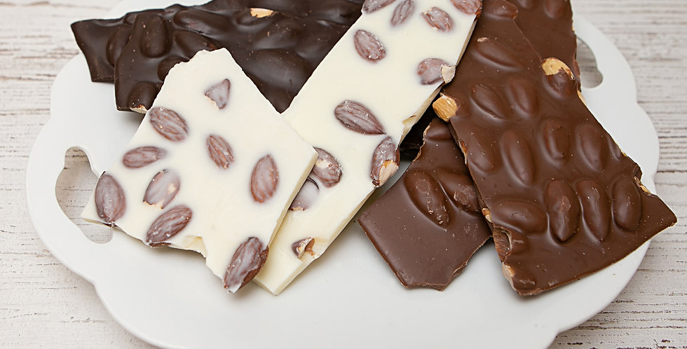 Almond bark - dark chocolate, milk chocolate, white chocolate
