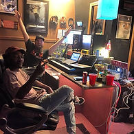 Pittsburgh Music Producer Mike Hitt with Dizzy Wright at MCM Studios