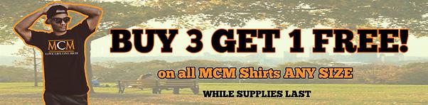 Buy 3 get 1 FreeMCM Shirts