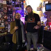 Pittsburgh Music Producer Mike Hitt with Nate Fox at MCM Studios