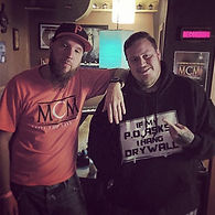 Pittsburgh Music Producer Mike Hitt with Jelly Roll at MCM Studios