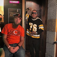 Pittsburgh Music Producer Mike Hitt with Mad Child of Swollen Members at MCM Studios