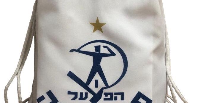 תיק שרוכים לבן-סמל הפועל
