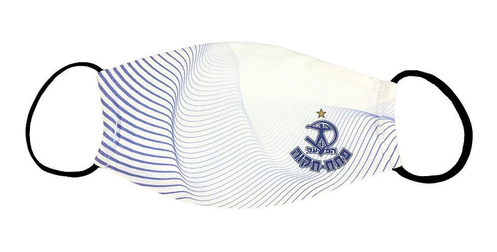מסכה-דגם פסים כחול לבן