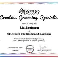 Creative Grooming Specialist certification