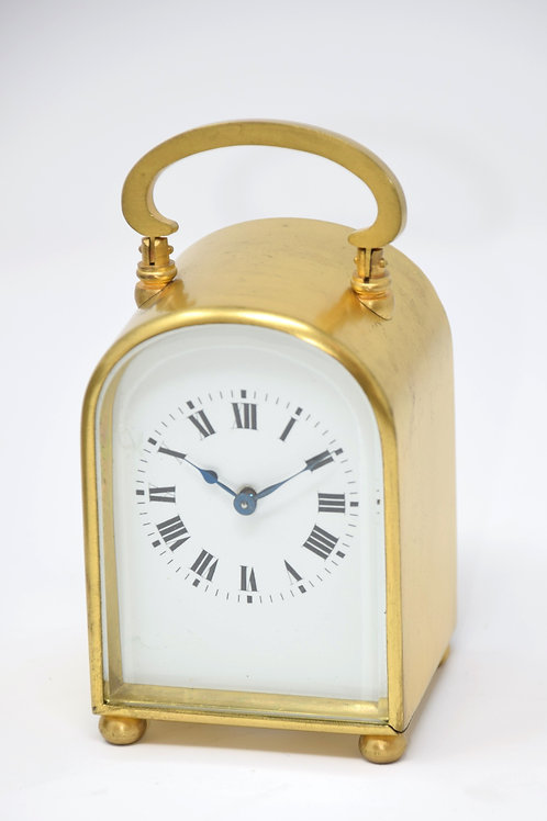 Miniature French timepiece carriage clock