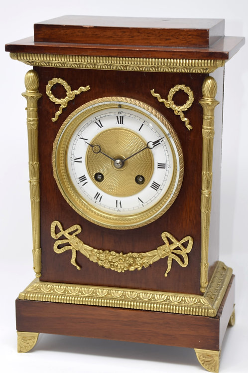 French 8 day parlour clock, striking on a gong.