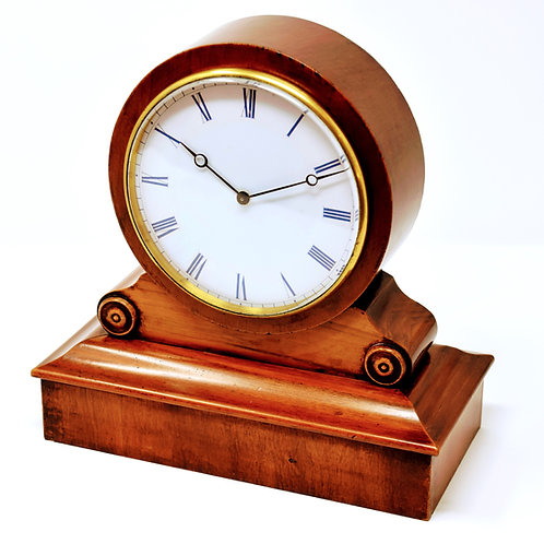 Mahogany 8 day drum head spring table clock