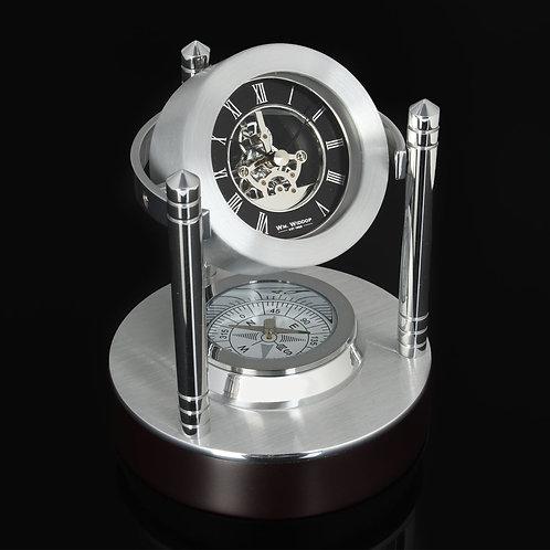 MANTEL CLOCK MINI SKELETON WITH COMPASS