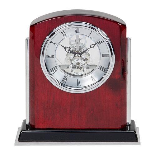 WOODEN SKELETON MANTEL CLOCK