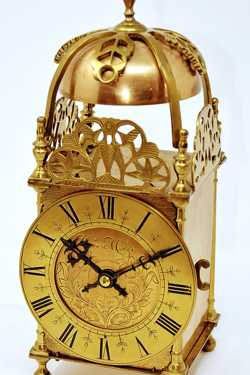 Bell striking 8 day lantern style clock
