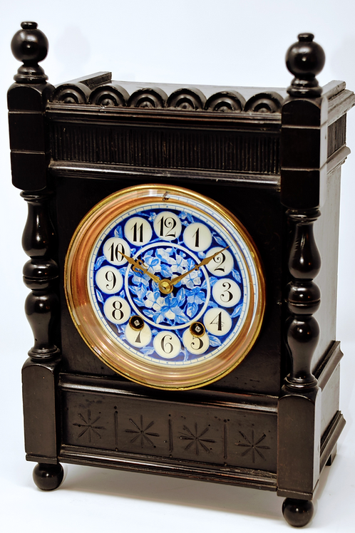 Arts & Crafts Gong Strike Spring Table Clock