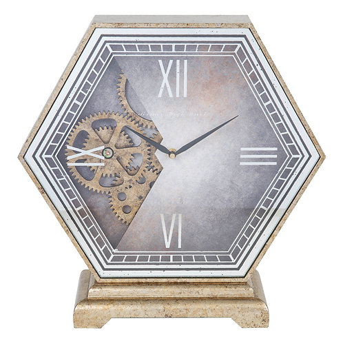 HEXAGONAL MANTEL CLOCK