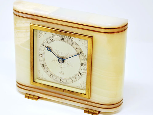 Art Deco Elliott 8 day spring desk clock