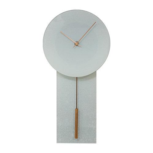 GLASS PENDULUM WALL CLOCK