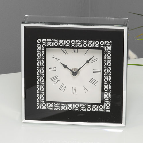 GLASS MIRROR CLOCK