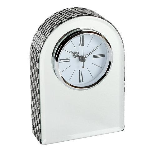 HESTIA® GLASS MIRROR ARCHED MANTEL CLOCK