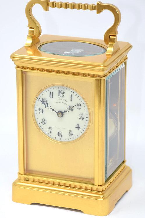Gilt Case Striking French Clock