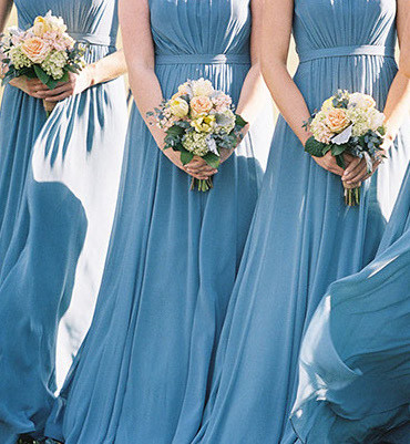 Airy light blue dresses