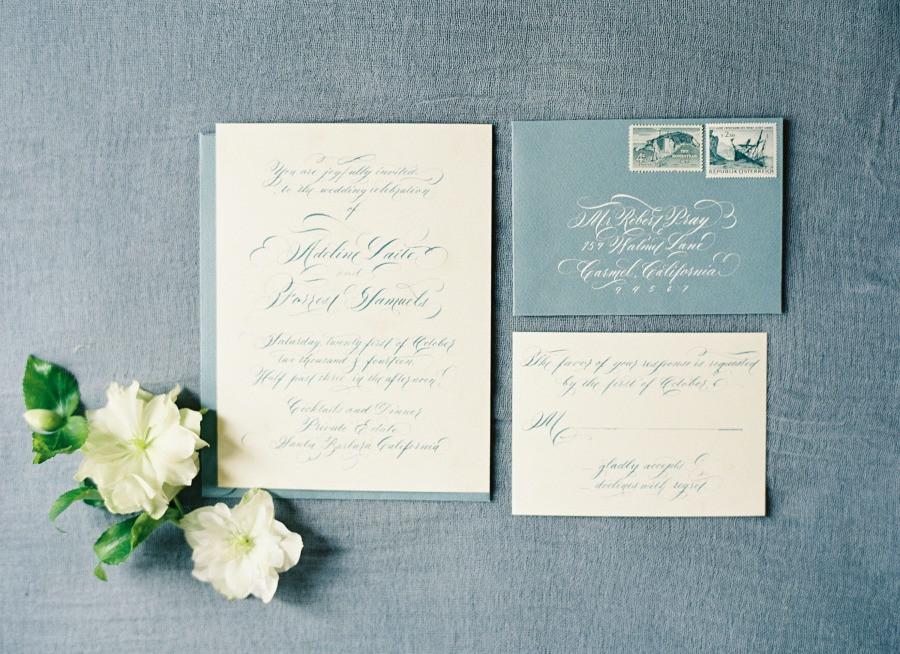 Wedding suite callligrapher