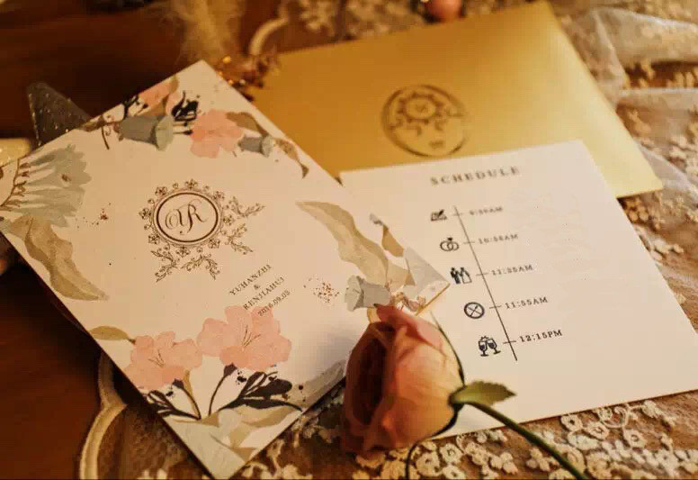 Schedule of events wedding program