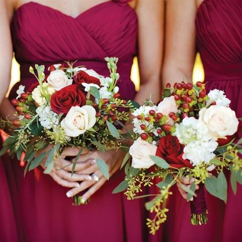 festive christmas wedding bouquet