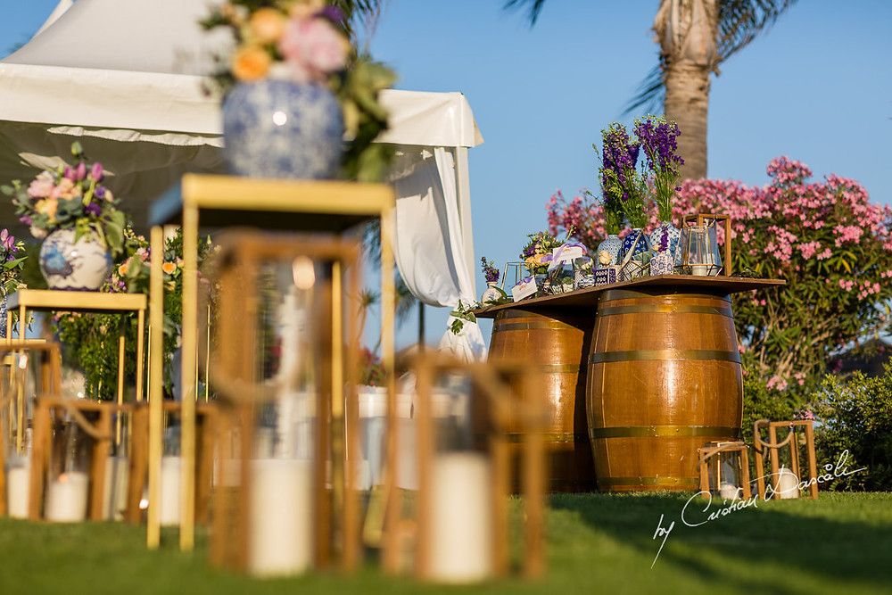 Wine barrels were on trend and on theme