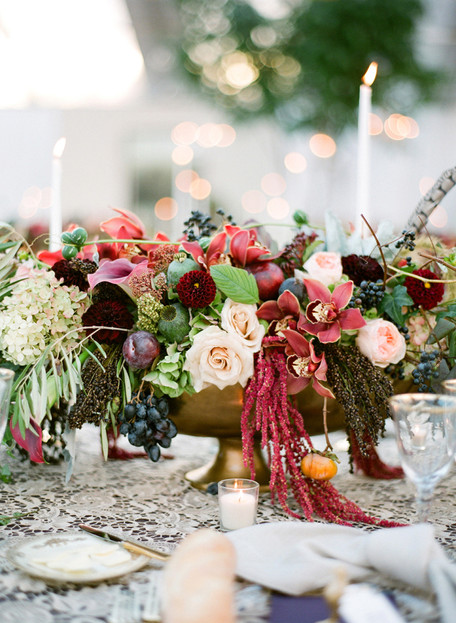 Burgundy + Gold Fall Wedding Inspiration