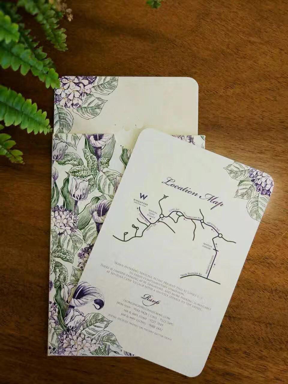 Wedding stationery purple
