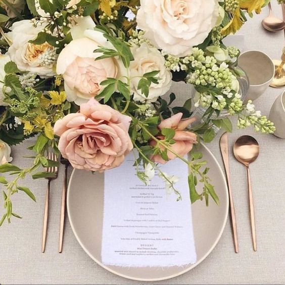 Gold and rose gold cutlery