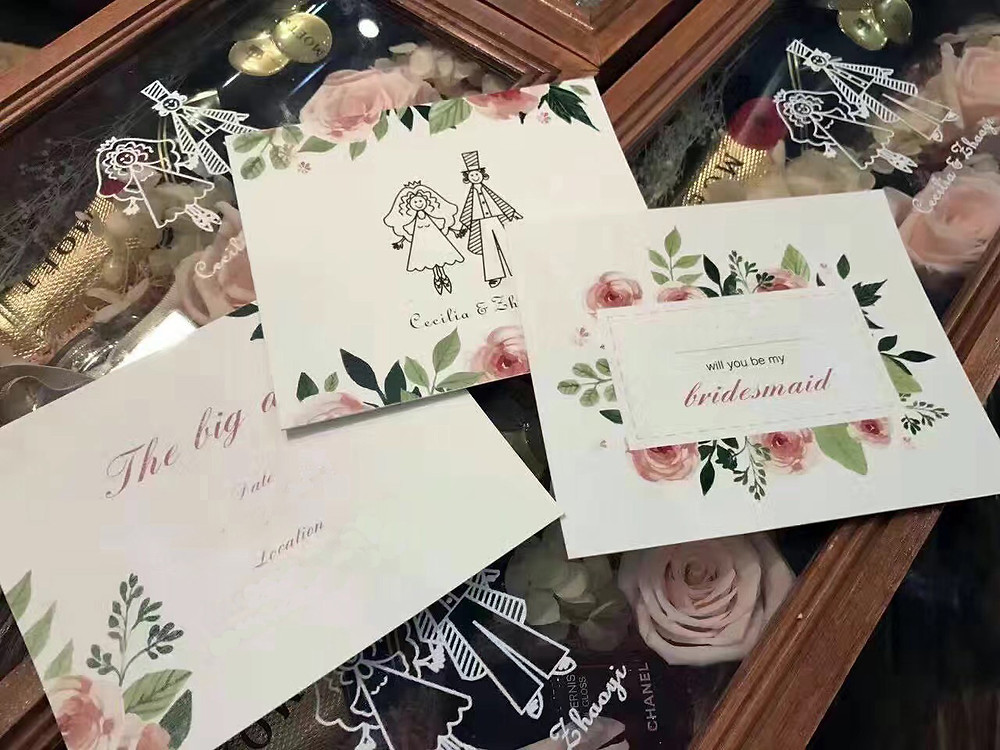 Gift box for bridesmaids