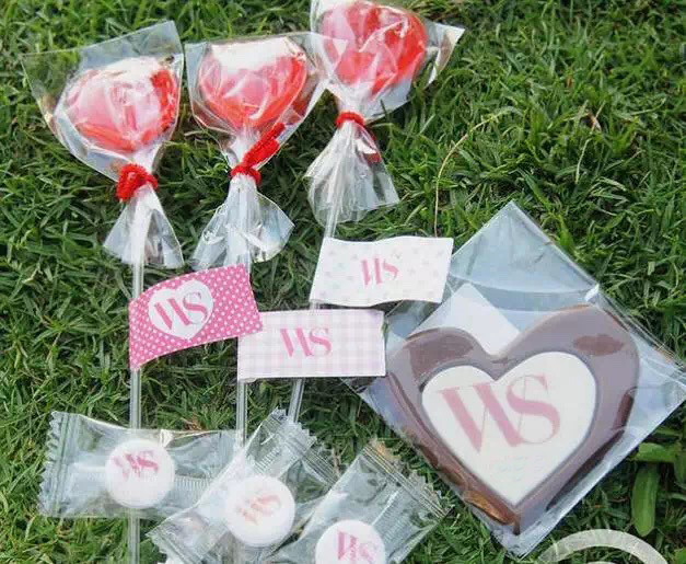 Bridesmaid sweets and chocolates