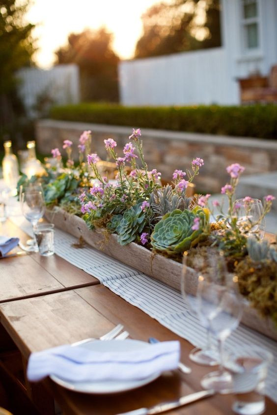 Succulent table settings
