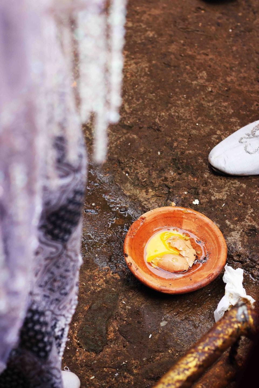 Broken egg at an Indonesian wedding