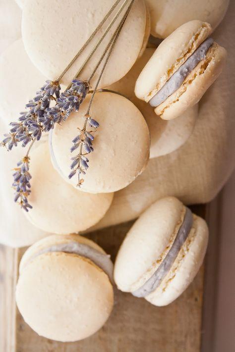 Lavender wedding favours macaroons