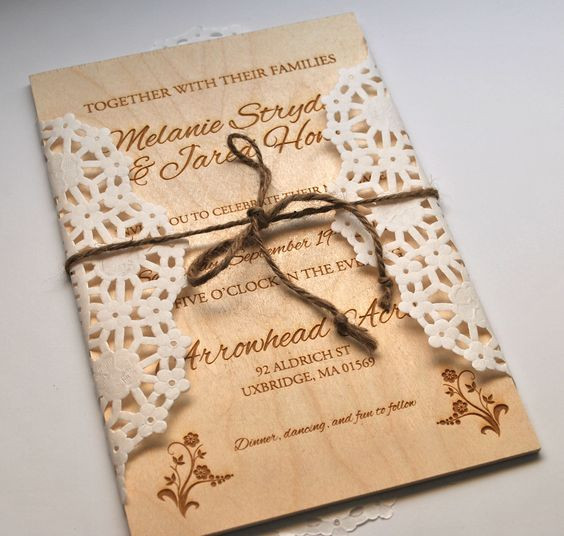 Wooden Rustic Invitations