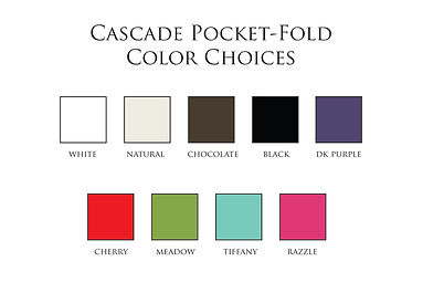 Available pocketfold-envelope colours