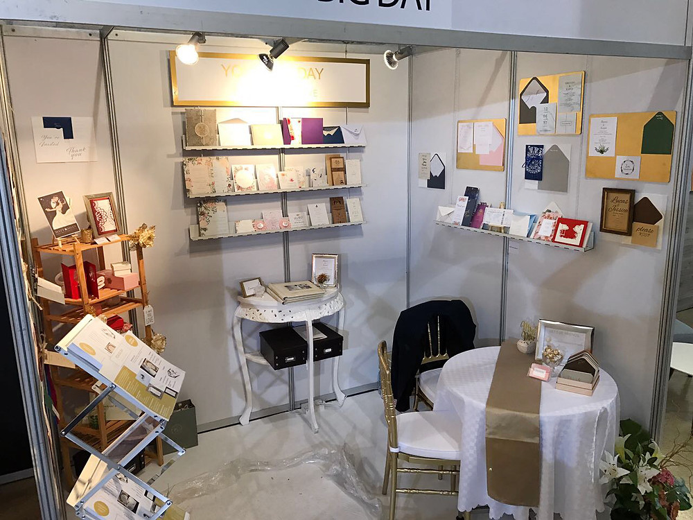 Wedding stationery booth trade expo limassol