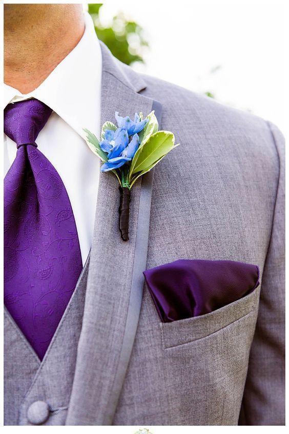 Ultra violet groom square pocket