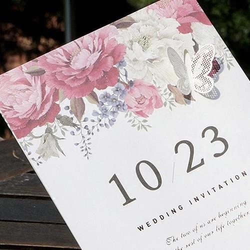Romantic save the dates wedding
