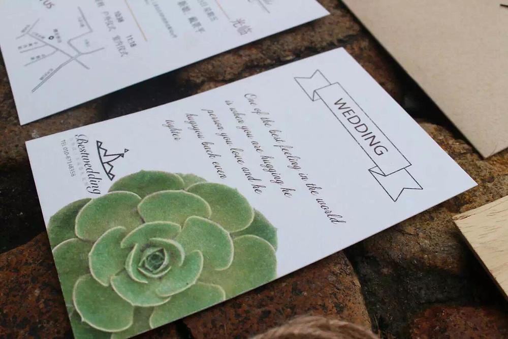 Custom invitations with succulent designs