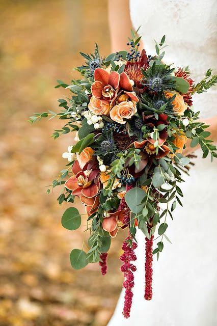 Fall wedding bouquet - bohemian