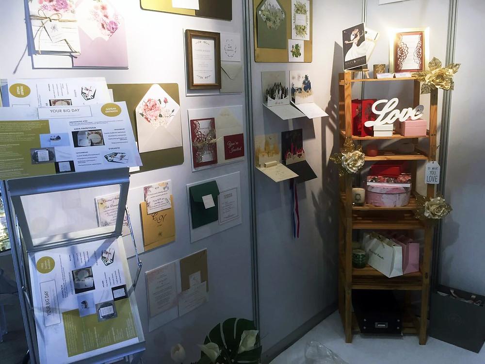 Wedding stationery booth