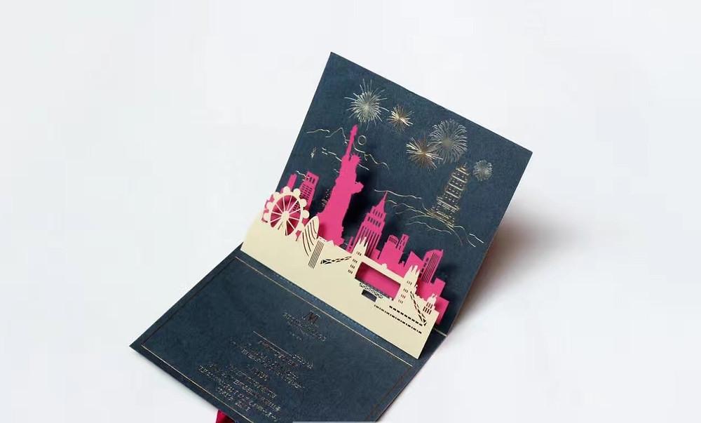 New York themed pop up card