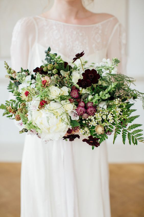 wild botanic wedding bouquet