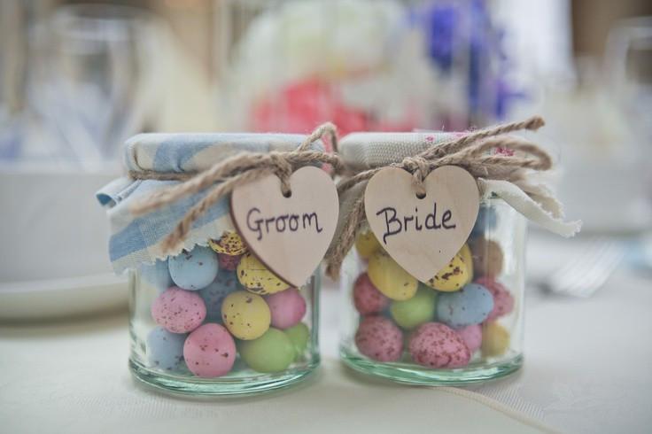 Mini Eggs as Wedding Favours