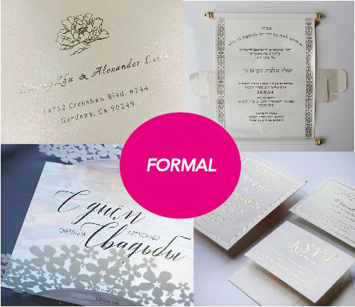 Formal weddings font style