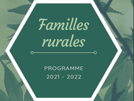 Familles Rurales - Programme 2021-2022